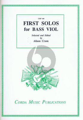 Crumb First Solos for Bass Viol