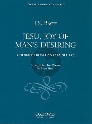 Bach Jesu Joy of Man's Desiring (Chorale from Cantata No.147) (Hess) (2 Piano's)