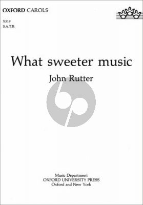 What Sweeter Music SATB-Organ or String Orch. Vocal Score