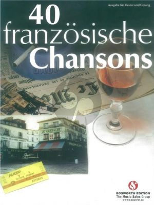 40 Franzosische Chansons (Piano-Vocal) (germ.-engl)