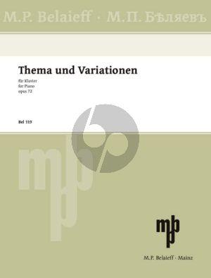 Glazunov Theme and Variations Op.72 F-sharp minor Piano solo