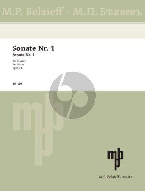 Glazunov Sonata No.1 B-flat minor Op.74 Piano solo