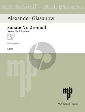 Glazunov Sonata No.2 e-minor Op.75 Piano solo