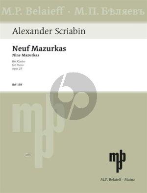 Scriabin 9 Mazurken Op. 25 Klavier