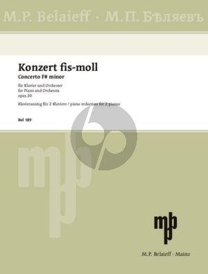 Scriabin Concerto F-sharp minor Op.20 Piano and Orchestra (piano reduction)