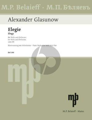 Glazunov Elegy Op.44 Viola-Piano