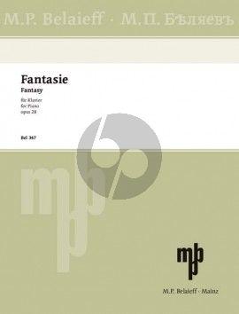 Scriabin Fantasie h-moll Op. 28 Klavier (1900)