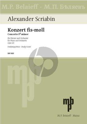 Scriabin Concerto F-sharp minor Op. 20 Piano and Orchestra (Study Score)