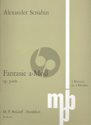Scriabin Fantasy a-minor Op. Post. 2 Pianos (1889) (Playing Score)
