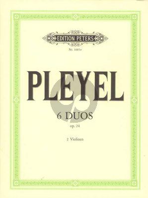 Pleyel 6 Duos Op.24 2 Violinen (Stimmen) (Carl Herrmann)