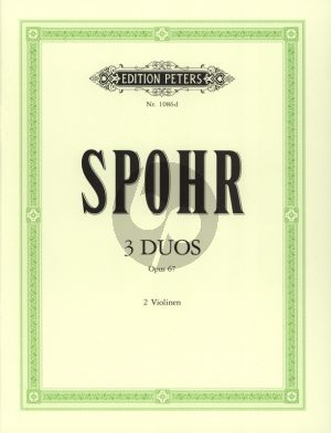 Spohr 3 Duette Op.67 2 Violinen (Carl Herrmann)