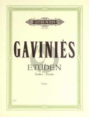 Gavinies 24 Matinees (Etuden) (edited by Walther Davidsson)