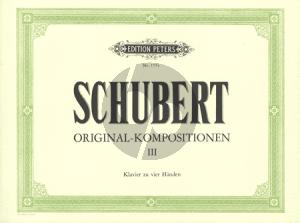 Schubert Original Kompositionen Vol.3 Klavier 4 Hd.