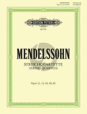 Mendelssohn Streichquartette Stimmen (Op.12 - 13 - 44 - 80 - 81)