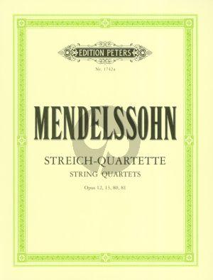 Mendelssohn Streichquartette Vol.1 Op. 12 - 13 - 80 - 81 Stimmen