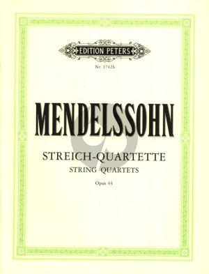 Mendelssohn Streichquartette Op. 44 (No.1 - 2 - 3) Stimmen