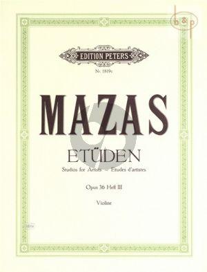 Etudes d'Artistes Op.36 Vol.3 Violin