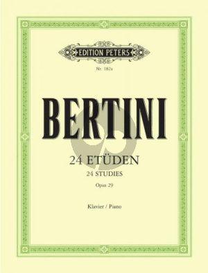 Bertini 24 Etuden Op.29 Piano (Adolf Ruthardt) (Peters)