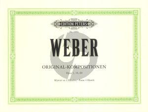Weber Original-Kompositionen Op.3 - 10 - 60 Klavier 4 Hd.