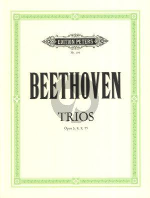 Beethoven Trios Op.3 - 8 - 9 - 25 (Vi.-Va.-Vc.) Stimmen (Peters)