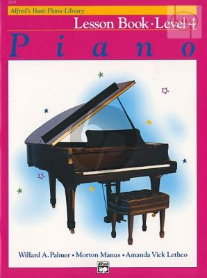 Alfred Basic Piano Lesson Book Level 4 Piano