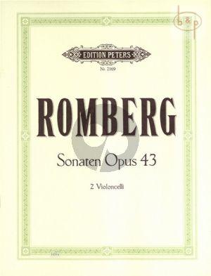Romberg 3 Sonaten Op.43 2 Violoncellos (Grutzmacher)