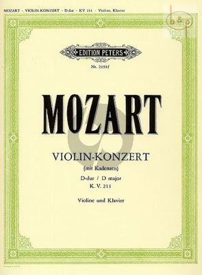 Concerto D-major KV 211 (Violin-Orch.) (piano red.) (Kuchler)