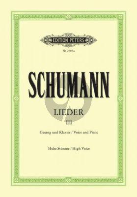 Schumann Lieder vol.3 (Hoch) (Nach den Handschriften und Erstdrucken) (Max Friedlaender)