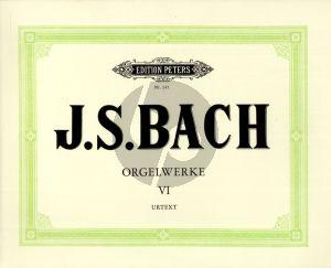 Bach Orgelwerke Vol. 6 (Friedrich Konrad Griepenkerl, Ferdinand August Roitzsch, Hermann Keller) (Peters-Urtext)