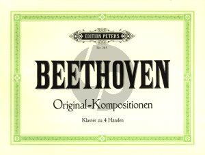 Beethoven Original Kompositionen Klavier zu 4 Hd. (Adolf Ruthardt)