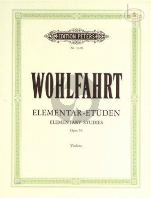 40 Elementar-Etüden Op.54 Violine