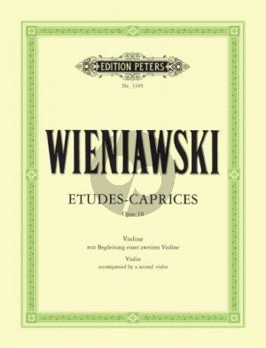 Wieniawski Etuden-Capricen Op.18 Violin (with 2nd. Violin) (Sitt)