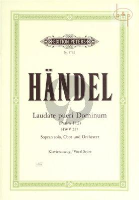 Laudate pueri Dominum (Psalm No.112) (HWV 237) (Sopr.-SSATB-Orch.) (Vocal Score)