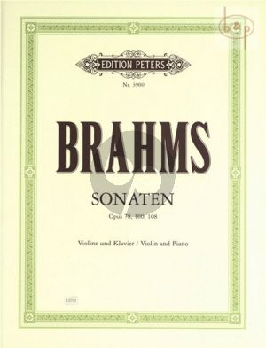 Sonaten Op.78 - 100 - 108 Violine und Klavier