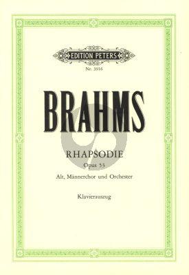 Rhapsodie c-moll Op.53 Alto solo - Männerchor - Orchester