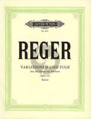 Reger Variationen und Fuge über ein Thema von Georg Philipp Telemann Op.134 Klavier