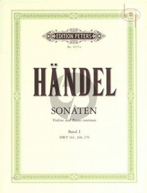 6 Sonaten Vol.1 No.1-3 HWV 361/368/370 Violine-Bc