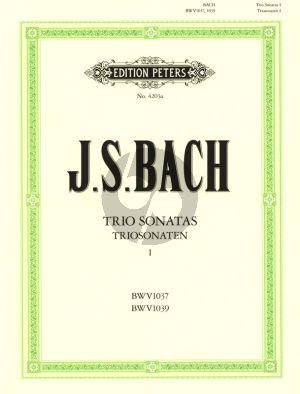 Bach Triosonaten Vol.1 (BWV 1037 - 1039) fur 2 Violinen [Flöte-Violine der 2 Floten] und Bc (Ludwig Landshoff)