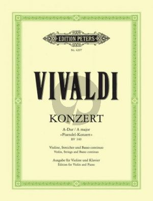 Vivaldi Concerto A-major RV 340 (Pisendel-Concerto) Violin-Piano (edited by Ludwig Landshoff)
