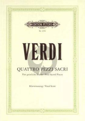 4 Pezzi Sacri (SATB-Orch) (Vocalscore)