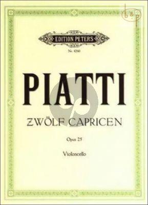 12 Capricen Op.25 Violoncello