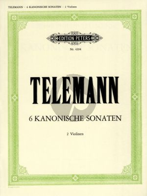 Telemann 6 Kanonische Sonaten TWV 40:118 - 123 2 Violinen (Hermann)