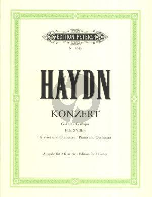 Haydn Konzert G dur Hob.XVIII:4 Klavier und Orchester Ausgabe 2 Klaviere (Herausgegeben von Bruno Hinze-Reinhold)