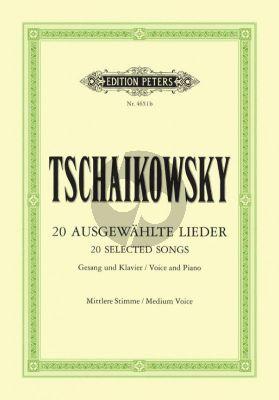 Tchaikovsky 20 Ausgewahlte Lieder (Mittlere Stimme) (Peters)