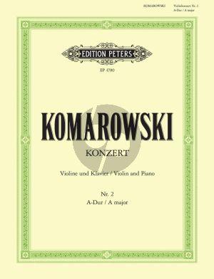 Komarowski Konzert No.2 A-dur Violine und Klavier