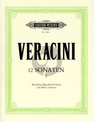 Veracini 12 Sonaten Vol.1 (No.1-3) Alblockflote [Flote/Violine] und Bc (Herausgegeben von Walter Kolneder)