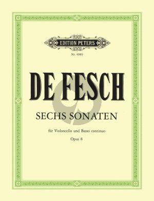 Fesch 6 Sonaten Op.8 Violoncello-Bc (Schulz-Wenzel)