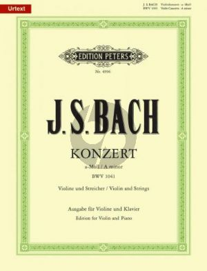 Bach Konzert a-moll BWV 1041 Violine-Klavier (Oistrach/Weismann)