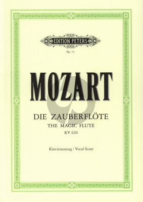 Mozart Die Zauberflote KV 620 Klavierauszug (Herausgegeben Kurt Soldan)