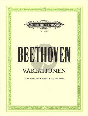 Beethoven Variationen Violoncello-Klavier (Stutchewsky) (Peters)